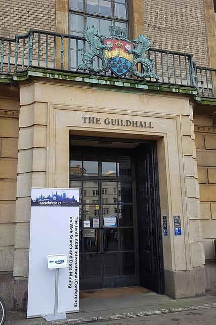 WSDM 2017 @ The Guildhall, Cambridge UK