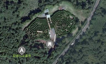Screenshot of Kimnyoung maze from Daum Map