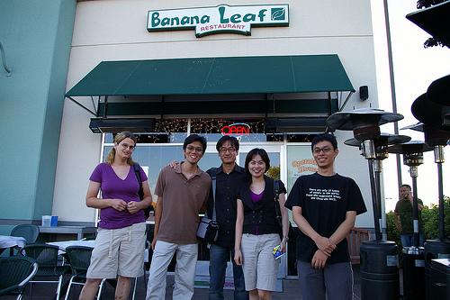 Dinner with Nam at Banana Leaf, Milpitas