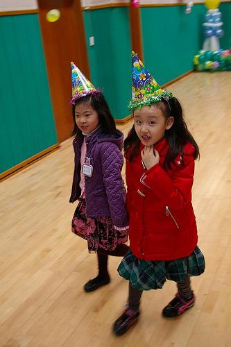 Gahyun's first day at school