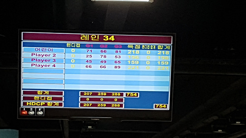 Family bowling day at East Seoul Grand Bowling Center