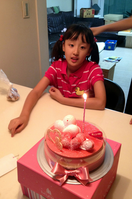 Visit to in-law's to celebrate Gahyun's birthday
