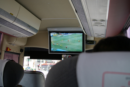 On the airport bus to ICN