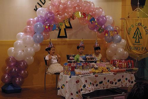 Gahyun's birthday party at Kids College