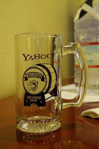 Y! Octoberfest glass mug