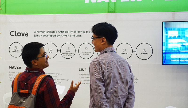 Naver Sponsor Booth at The Web Conference 2018