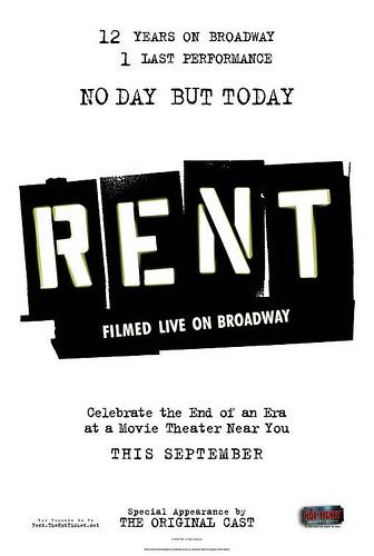 Rent: Filmed live on Broadway Poster