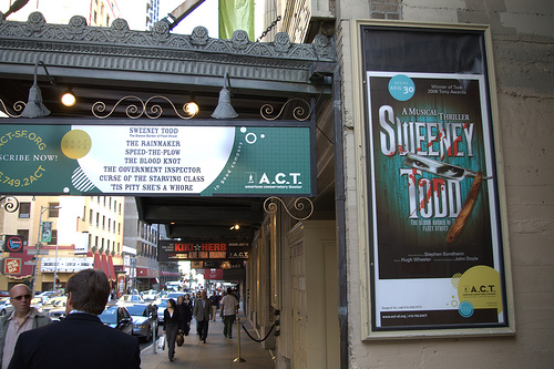 Sweeney Todd poster at SF
