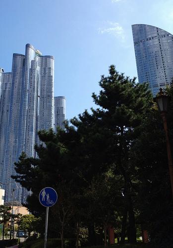 2012년 추석: Haeundae skyscrappers