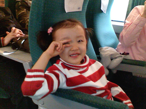 In KTX: way back to Seoul