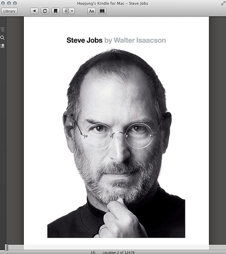 """Cover of the Kindle book """"Steve Jobs"""""""